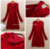 Form-Frauen-Kleid, rotes reizvolles Kleid (CS-D0916)