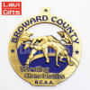 Herstellerpreiswerter kundenspezifischer Triathlon-ringende EBB-Sport-Medaille mit Farbband