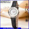 Het Horloge van de Douane van de Vrouw van het Kwarts van de Riem van het Leer van de manier (wy-094A)