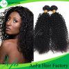 100%加工されていない人間のRemyの毛のねじれた巻き毛の卸し売りバージンの毛