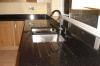 Галактика черного цвета черного гранита место на кухонном столе