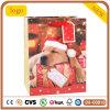 Weihnachtsnettes kleiner Hundepatten-Geschenk-Papierbeutel