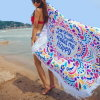 Циновка пляжа Microfiber Mandala большая круглая с Tassels