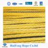 Corda gialla dell'argano della corda di 12-Strand Hmpe