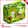 Hot Sale Kids Cartoon rectangulaire en métal de l'étain Boîte à lunch