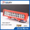 12  barra ligera campo a través de alto rendimiento del CREE de la lámpara auto 72W 4X4 LED