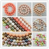 貝の真珠の緩いビード10mmの円形の組合せ色、方法宝石類のビードの真珠