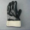 Черные перчатки тумака безопасности вкладыша неопрена и ткани Терри (5345)