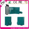Carpeta de aluminio de la PU de la caja de tarjeta de la nueva llegada RFID para las mujeres