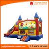 子供(T3213)のためのスライドが付いている膨脹可能なおもちゃの弾力がある跳躍の城