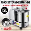 misturador dobro do cortador do alimento do aço inoxidável das lâminas do metal 12L