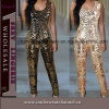 Venda Por Atacado Black Sequin Sexy Lady Bodysuit Clubwear Catsuit (TP4477)