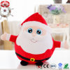 Red Round Xmas Santa Clause Peluche Soft Gift Meilleur jouet