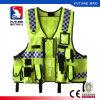 警察の義務のためのポケットジッパーの反射高い可視性の実用的な安全ベスト