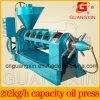 Guangxin Yzyx120SL 6.5ton um expulsor do petróleo do feijão de soja do dia com sistema refrigerando