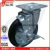 6 Zoll-schwarze industrielle Schwenker-Gummifußrolle mit Bremse