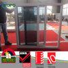 Vidrio doble blanco Windows de desplazamiento del color UPVC con el desplazamiento de la pantalla