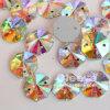 El octágono excelente de la calidad 16*16m m cose sobre el vidrio cristalino de la suposición de la alta calidad del Ab cose en el Rhinestone para la ropa y los bolsos