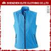 Revestimento azul de Softshell das mulheres Sleeveless