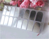 Etiquetas de prata elegantes do prego das etiquetas da arte do prego da água da folha da cor