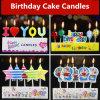 Velas congeladas decoração do bolo da festa de anos dos chapéus de coco das velas do aniversário