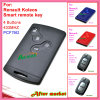 Smart Key para Auto Renault Megane com 3 botões 434MHz 7947 Chip Red Color