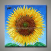 Canvas (KLSF-0004)에 손으로 그리는 Large Sunflower Oil Painting
