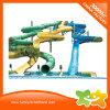 Gewundenes Fiberglas-Wasser-Spiel-geöffnetes Schwemmwasser-Plättchen für Erwachsenen