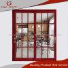 Porta deslizante de alumínio decorativa interior do estilo americano com vidro Tempered