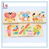木の子供の漫画の動物のトラフィックのステレオのジグソーパズルのおもちゃ