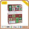 크리스마스 빨강과 녹색 선물 패턴 선물 종이 봉지