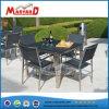 Les meubles de patio sol Table en verre carré supérieur Set de table