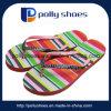 Женщины сандалий Китая оптовые плоские, напечатанные Flops Flip Insole 15mm