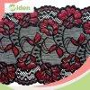 Merletto di nylon di Alençon di stirata di prezzi del fabbricato del fiore rosso di nylon dello Spandex