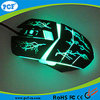 USB 6D光学ワイヤーで縛られたレーザーの賭博マウス、人間工学的デザインコンピュータによってワイヤーで縛られる賭博マウス