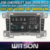 Technology+Capctive Screen+1080P+DSP+WiFi+3G+OBD+DVR+Good Price를 가진 Chevrolet Sail 2009-2013년을%s Witson Windows Car DVD