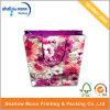손잡이 (QY150292)를 가진 서류상 쇼핑 백을 인쇄하는 가득 차있는 꽃