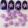 최상 Flower Shape Amethyst Color 10mm Resin 3D Nail Art Stones From Nail Art Tips Rhinestone Manufacturer
