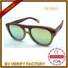 Nuevo diseño Woodenl Sunglass con la lente reflejada (FX15063)