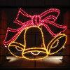 LEIDENE van het Motief van de Klokken van het festival Lichte OpenluchtStraatlantaarns met de Decoratie van Kerstmis