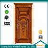 Projetos de madeira contínuos de madeira da porta principal do Teak