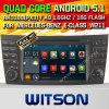 Automobile DVD del Android 5.1 di Witson per il E-Codice categoria W2-F9701e di Mercedes-Benz