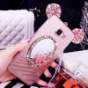 KristallBling Luxuxspiegel-Kasten Soem-für Samsung-Galaxie A7100