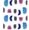 Etiquetas coloridas do prego das etiquetas da arte do prego da água do decalque da pena da forma
