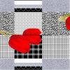 a manta Pigment&Disperse do Tulip 100%Polyester imprimiu a tela para o jogo do fundamento