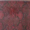 Cuoio del PVC dell'unità di elaborazione del reticolo del serpente per i pattini delle borse