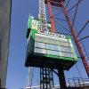 Velocidad media de construcción de elevación por el Levantamiento de pasajeros y Materiales