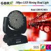 Indicatore luminoso capo commovente professionale della fase LED 108*3 RGBW LED