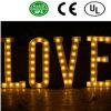 Sinal-Amor dianteiro romântico da letra do bulbo do Lit do diodo emissor de luz para o casamento