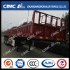 Cimc Huajun H70 높은 장력 강철 3 차축 담 화물 트레일러